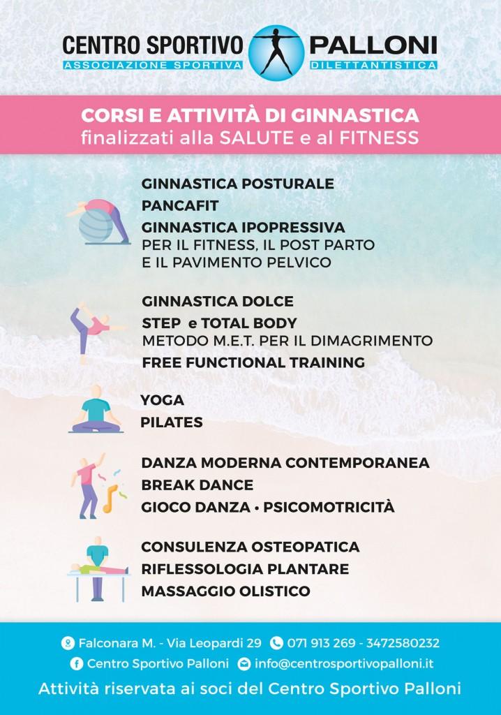Corsi 2019 Centro sportivo Palloni Palestra